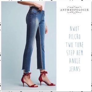 Anthro Pilcro Parallel Stepped Hem Ankle Jean